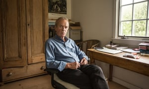 Martin Amis at his country home in East Hampton, Long Island.