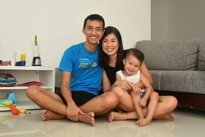One week's worth of plastic waste, used and collected by Audrey Gan's family in Singapore.