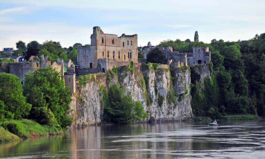 Chepstow Castle and the River Wye.