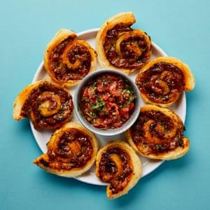 Yotam Ottolenghi's pizza pinwheels