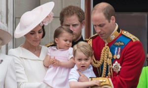 The Duke and Duchess of Cambridge with their children George, two, and Charlotte, one