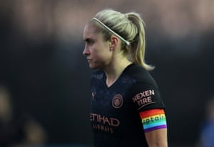 Steph Houghton wearing the captain's armband