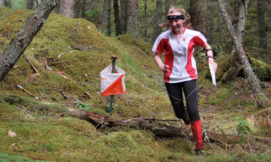 Cumbrian athlete Hannah Cleary-Hughes orienteering in Lakeland