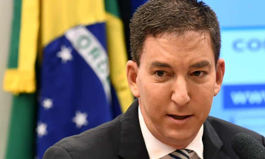 Glenn Greenwald, co-founder of The Intercept website, at a hearing at the human rights commission in Brasilia in June 2019
