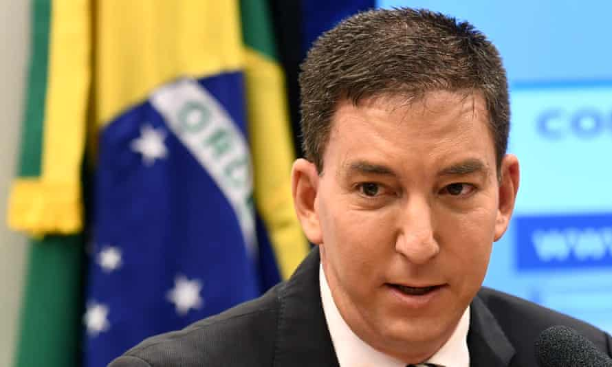 Glenn Greenwald pictured in June last year. Allies of Greenwald condemned the charges against him as an attack on the press.