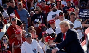 President Donald Trump holds a rally in Arizona.