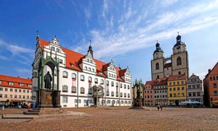 Market Square in Lutherstadt Wittenberg.