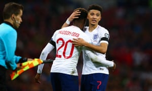 Hudson-Odoi and Jadon Sancho have been friends since childhood and both impressed in the 5-0 victory over Czech Republic