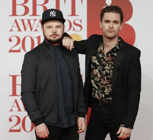 Royal Blood, (Ben Thatcher and Mike Kerr), nominated in the British Group category