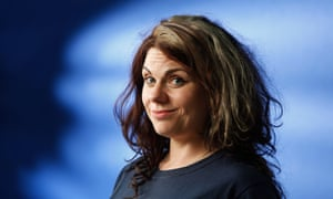Caitlin Moran before speaking at the Edinburgh International Book Festival.
