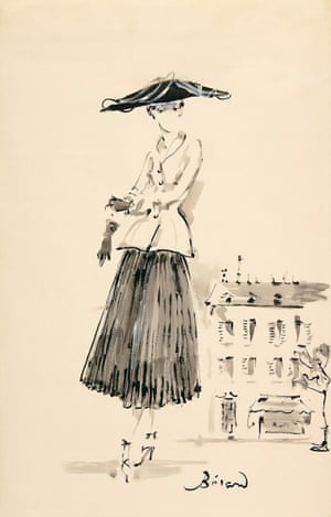 Illustration of the Bar suit by Christian Bérard, 1947