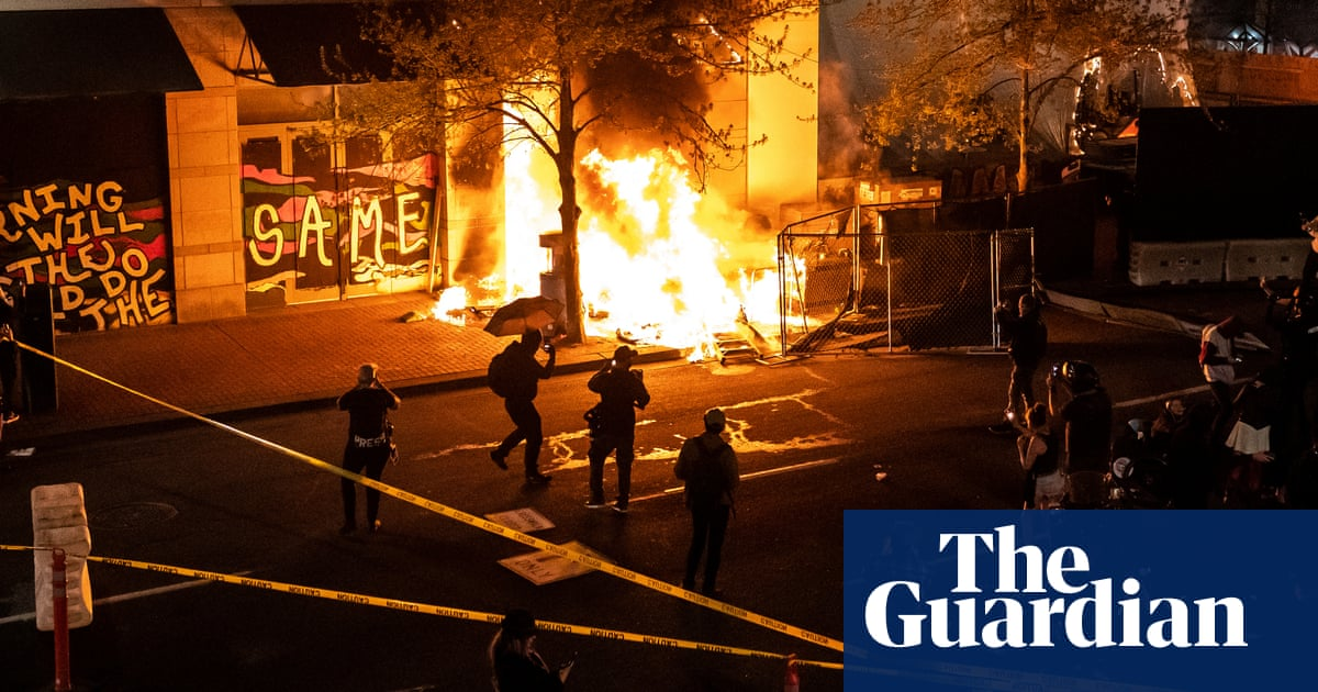 Protests erupt in US cities after Daunte Wright and Adam Toledo killings – video