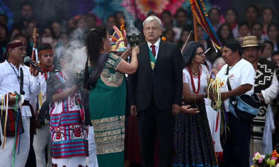 Amlo, centre, has pointed the finger at Cortes before.