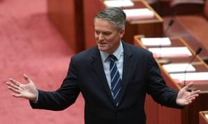 Mathias Cormann in the Senate