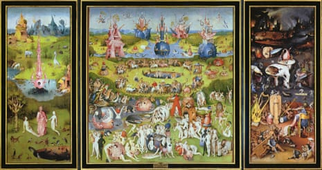 The Garden of Earthly Delights' (1500s) by Hieronymus Bosch.