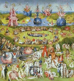 The Garden of Earthly Delights, 1500s, by Hieronymous Bosch. Museo del Prado, Madrid.