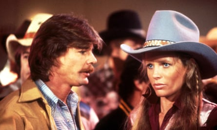 Jan-Michael Vincent with Kim Basinger in Hard Country.