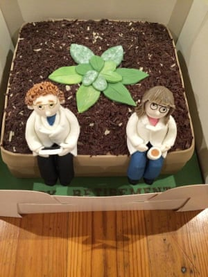 Warwick Plant science retirement cake