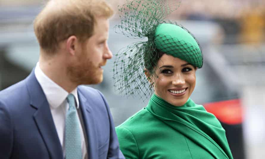 Meghan and Harry arrive at Westminster Abbey to attend the Commonwealth Day service.