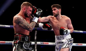 Rocky Fielding during his win over David Brophy at the Echo Arena in his home city, Liverpool.