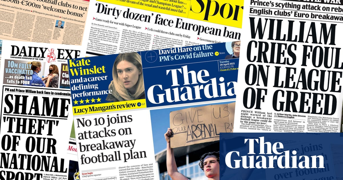 'Shameful': how the papers covered European Super League backlash