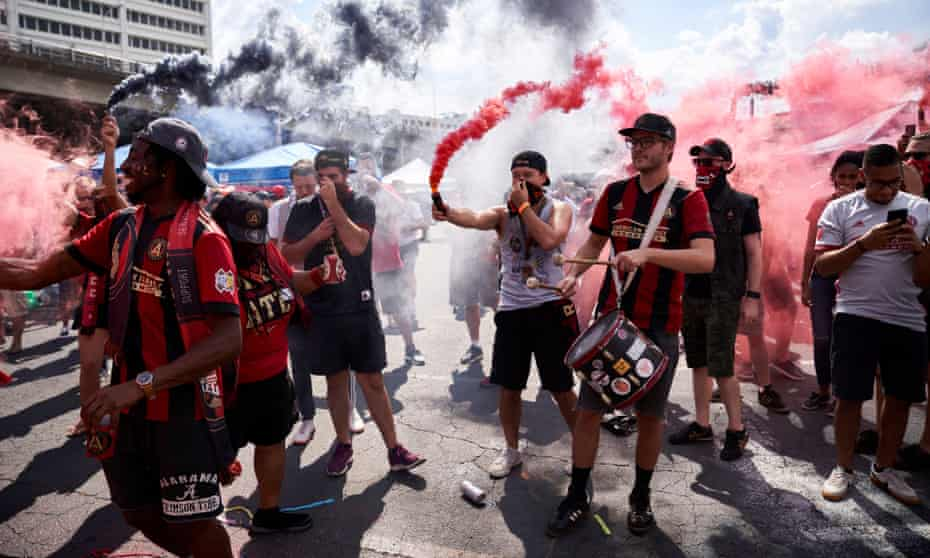 Table-topping Atlanta United soccer team are a surprise hit with the city's residents, who turn out in huge numbers to watch the side play.