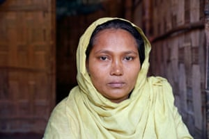 Traditional birth attendant Sayeda Khatun at a house in Cox's Bazar