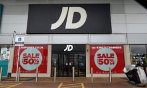 JD Sports at Greenwich Peninsular, south London, which remains closed due to coronavirus restrictions.