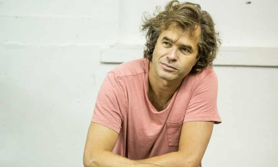 Rupert Goold photographed at the Almeida during rehearsals for Albion