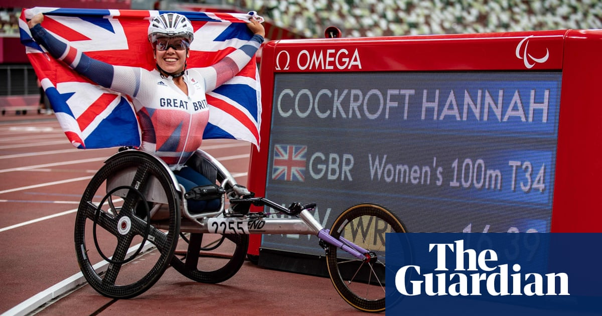 Cockroft breaks T34 100m world record to claim sixth Paralympic gold