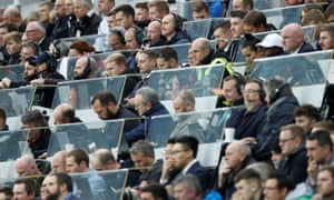 The press box at St James' Park during a Premier League match between Newcastle and Liverpool in October 2017. Diversity-wise, it is reflective of most football press boxes in this country
