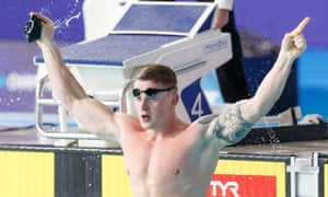 Adam Peaty wins the 50m breaststroke, his third title of the European Championships.