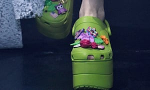 Crocs launched high-fashion collaborations with Balenciaga, pictured.