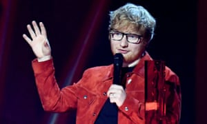 Ed Sheeran at the 2018 Brit awards