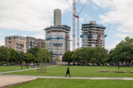 Shape of things to come … hexagonal towers in Hackney, London, by Karakusevic Carson and David Chipperfield, under the local authority's housing initiative.