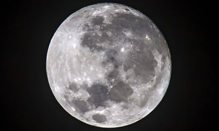 A shot of the moon.