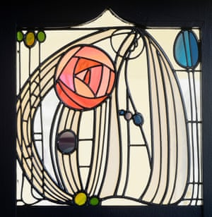 Botanical beauty … a stained glass window from House for an Art Lover.