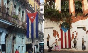 Caribbean cousins: composite of Havana in Cuba and San Juan in Puerto Rico.