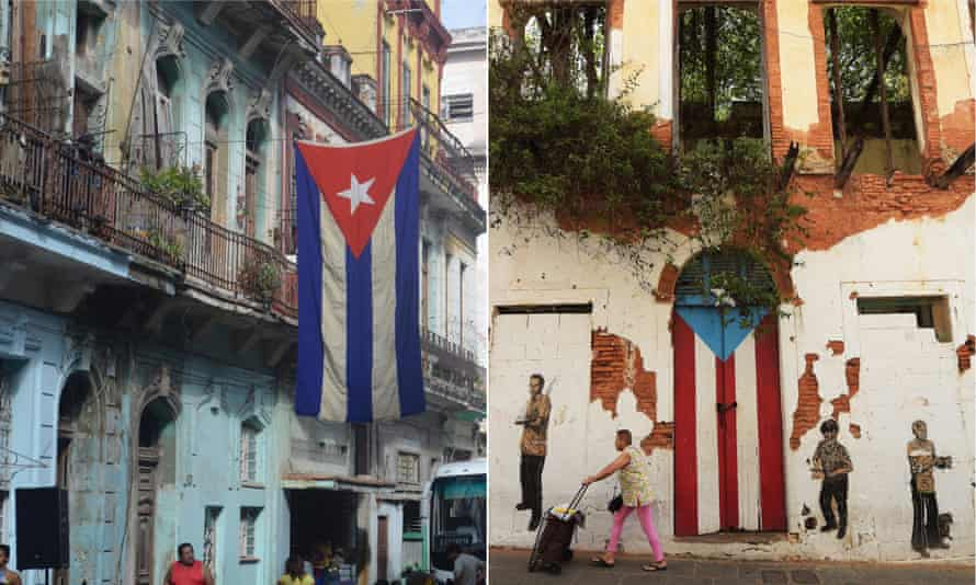 Caribbean cousins: composite of Havana in Cuba and San Juan in Puerto Rico.