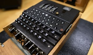The fully-functional Enigma machine sold by Bonhams in New York on Wednesday.