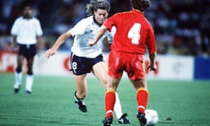 Chris Waddle takes on Belgium's Leo Clijsters. Clijsters, the father of grand slam tennis champion Kim, died in 2009