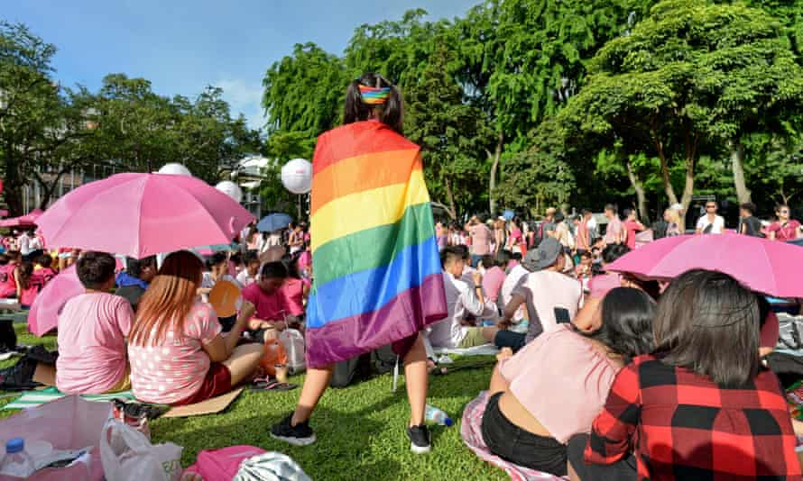 An event in support of the LGBT community at Hong Lim Park in Singapore