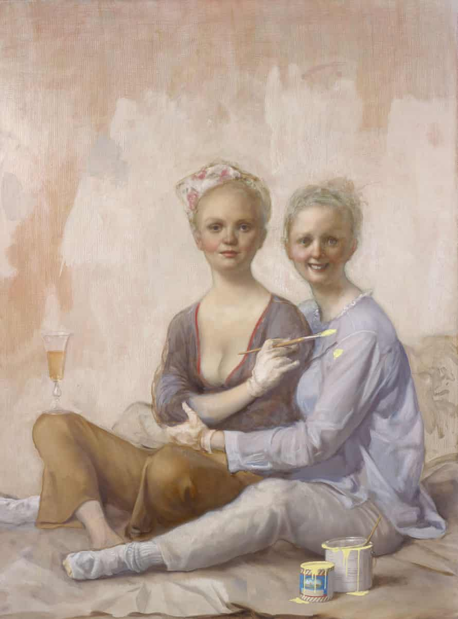 Happy House Painters by John Currin.