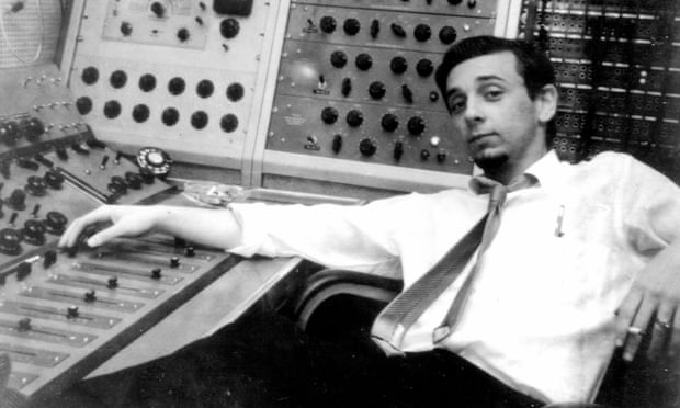 Phil Spector at mixing console