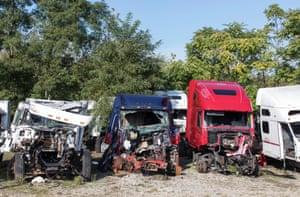 Truck graveyard