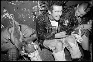 Photographer Ricky Adam captured Belfast's punk scene centered around the Warzone Collective, who opened their own spittle-flecked venue, Giros. Here he gives the background to each image. 'I got my very first camera in 1997. I just snapped photos here and there without any real intention – I was more into the music and drumming in bands than taking photos. To be honest, I didn't really know what I was doing which in some ways was quite good. There's an innocent youthfulness that comes through.' A book, Belfast Punk, is out now, published by Damiani. All photographs: Ricky Adam