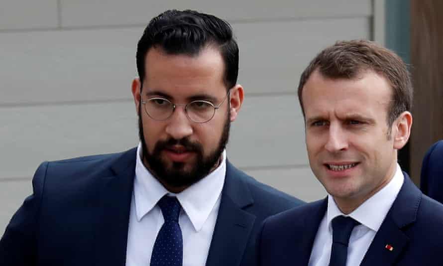 Alexandre Benalla with Emmanuel Macron