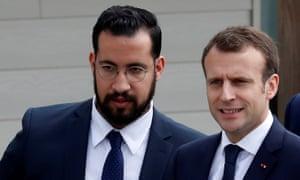 Emmanuel Macron and Alexandre Benalla.