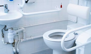 Hospital toilet