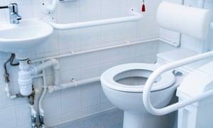 A hospital toilet